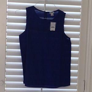 J crew royal blue linen blend top. NWT size 2